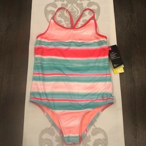 NWT girls one piece swim suit Under Armour pink